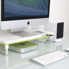 Whether you use a desktop or a laptop, use the stand to hold up your monitor or laptop and your desk will instantly gain extra space to organize other stuff in. The stand includes 4 front USB ports and a mic/speaker plug also in the front. You can easily adjust the height of the stand to find the best viewing level of your laptop or monitor.