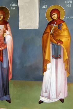 Themis Petrou - Saint Athanasio's Church - Find Creatives Byzantine Icons, Byzantine Art, Saint Anthony Church, Irene, Saints, Religion, Creative, Artist, Artists