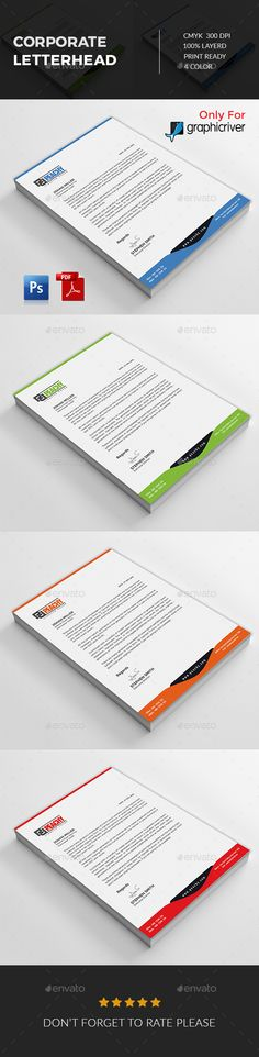 Corporate Letterhead Letterhead, Letterhead design and - corporate letterhead template