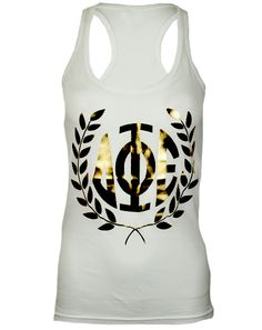 Delta Phi Epsilon Go Greek Goddess Tank Top by Adam Block Design | Custom Greek Apparel & Sorority Clothes | www.adamblockdesign.com