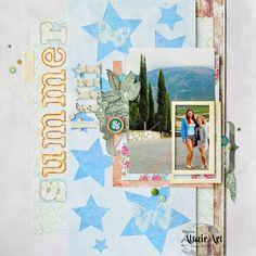 summer fun layout for @altairart. In winter I want to remember sweet summer time..... новая страничка для Альтаира с многослойным фоном. идея со звездами давно бродила в моей голове и созрела вот в такую работу. заодно креативно подошла к вопросу как спрятать на фото лишнего человека 😂😂 а вы его найдете? 🤓 #altairart #chipboard #stars #ручнаяработа  #авторскаяработа #скрапбукинг #скрап#layout #by_marina_gridasova #butterflies #layeredlayout #diecut #crafting #papercrafting #handmade…