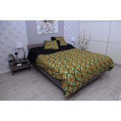 WaxinDeco Linge de lit - Wax et Coton - Fleurs de vanille - 240*220cm / eshop.waxindeco.com ; ankara bed design