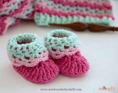Crochet Baby Booties Free Crochet Pattern: Loopy Love Newborn Baby Booties