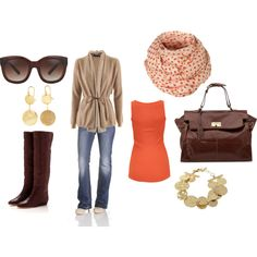 Orange and Gold............polyvore.com
