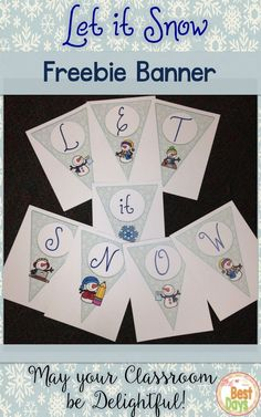Are you looking to make your classroom a little more delightful this winter!  Add this adorable banner to your room!  There are snowmen in school on each banner piece and extra snowmen and banner pieces to divide the words! Plus, a choice of it or I T banner pieces!  Get this FREEBIE over at The Best Days!