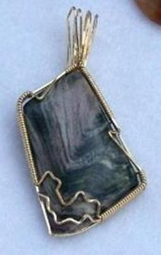 FREE S - Pendant - Gorgeous Wire Wrapped Green & Mauve Rhyolite - A JewelryArtistry Original - P72  $49.98