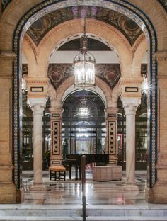 The Alfonso XIII, A Luxury Collection Hotel, Seville, Spain is one of Spain's most iconic hotels, a grand dame, which was recently restored to its former glory.