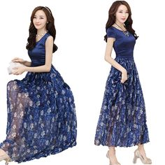 Find More Dresses Information about 2016 Summer Elegant High Quality Women Mother Patchwork Print One piece Dress Gentlewomen Full Long Dress Vestidos Clothing,High Quality dress shirt neck fit,China dress plain Suppliers, Cheap dresses wear wedding guest from fashiongogo on Aliexpress.com