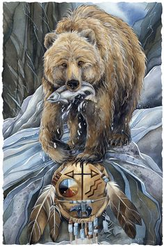 Bergsma Gallery Press::Paintings::Art With Symbols::Native::Bear Clan - Prints