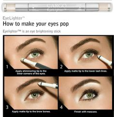 Quick make-up tutorial. This is how I do my eye make-up every time it makes a huge difference in really making the eyes pop! All Things Beauty, Beauty Make Up, Diy Beauty, Beauty Hacks, Fashion Beauty, Fashion Hair, Pop Fashion, Beauty Land, Beauty Room