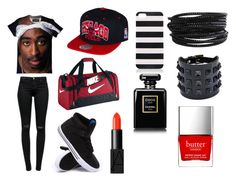 Going to practice by omyra88 on Polyvore featuring polyvore, fashion, style, J Brand, Supra, NIKE, Pieces, Valentino, Forever New, NARS Cosmetics, Chanel and Butter London