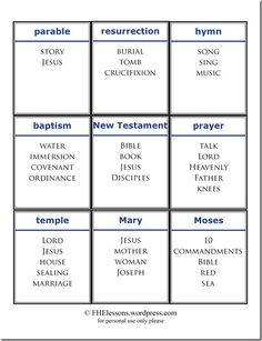 church words taboo game