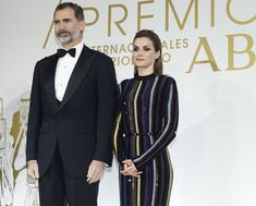 King Felipe VI of Spain and Queen Letizia of Spain attended a dinner in honor of the winners of the prize 'Mariano de Cavia', 'Luca de Tena and 'Mingote' held at ABC newspaper headquarters on December 10, 2015 in Madrid, Spain.