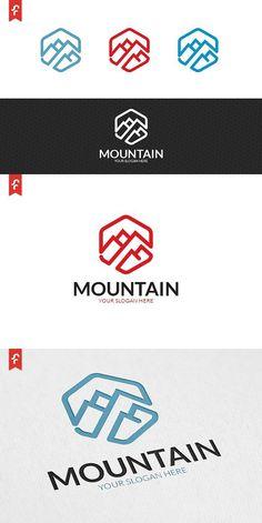 minimalist and modern logo. Logo Branding, Branding Design, Hill Logo, Outdoor Logos, Water Logo, Mountain Logos, Studio Logo, Travel Logo, How To Make Logo