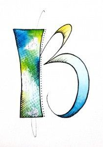 Textured Letters - B (how about a series of Barbara Close letters with diff. fills and textures???) - project