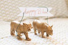Cork and Chambers   DIY Painted Animals - Birthday, Wedding