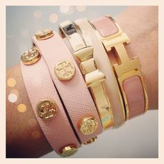 Gold & Pink Arm Candy
