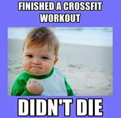 Wether its a CrossFit workout, running for 5 minutes without stopping, completing your first 5km run or a full pushup for the first time, the feeling is the same... YES!