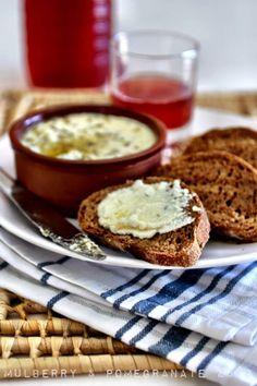"""Prentza"" Ladotyri Dip (Oil Cheese) & homemade bread in Zakynthos"