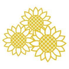 Silhouette Design Store - View Design #182878: sunflowers