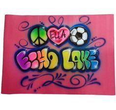 peace, heart soccer mat