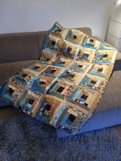 log cabin quilt for Jan. 120x180 cm
