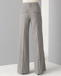 wool flannel grey trousers - want these-wish I had them now for my interview tomorrow
