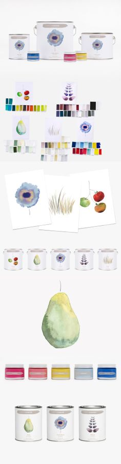 Packaging and promotion for Conran Paint. I love the tag line: Inspired by the color of British landscapes - via @..Wanda.. DAG&NACHT interieur ontwerp en styling-Jyuan Chen