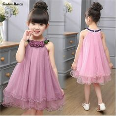 Cheap birthday party dress, Buy Quality girls ball gown dresses directly from China children clothing Suppliers: Kids Girl Ball Gown Dress 2017 Toddler Girl Summer Lace Dress 2 4 6 8 Year Princess Birthday Party Dress Children ClothingThis Pin was di Frocks For Girls, Little Girl Dresses, Girls Dresses, Baby Frocks Designs, Kids Frocks Design, Fashion Kids, Fashion Design, Flower Girls, Flower Girl Dresses