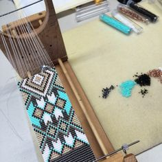 The Wide Catalina on the loom. I originally designed this for a bride. Hoping to get around to making one for myself someday!