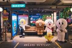 Visit Line Friends Store to take photos with the cute Line characters and buy Line friends goods. Find Line Friends Store location and direction. Backdrop Design, Booth Design, Art Public, Photo Zone, Scenery Background, Cute Love Gif, Experiential Marketing, Line Friends, Parking