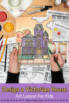 Need a distance learning art project? Create a Victorian house drawing with your middle school kids. Fun Architecture art lesson with a Halloween twist! Art History Lessons, Art Lessons For Kids, Art Lessons Elementary, Middle School Art Projects, Art School, Victorian House, Victorian Art, Art Sub Plans, Importance Of Art
