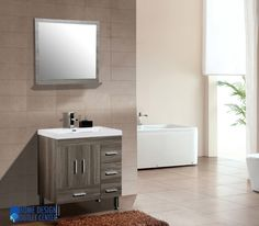"""<div style=""""font-family: Arial;""""> The cabinet in this modern bathroom vanity is pretty handy in size –L 29.50"""" x H 33"""" x D 18.75""""inches. It also has the self closing drawers and doors. Minimum assembly is needed while installing this accessory.<span style=""""color: rgb(0, 0, 205); font-size: 18pt;"""">%2..."""