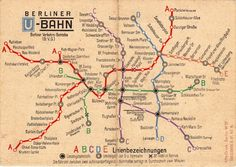 The Berlin U-Bahn is one of the best and easiest u-bahn networks in the world. And here you can see the map of this network in 1948.   More infos here.