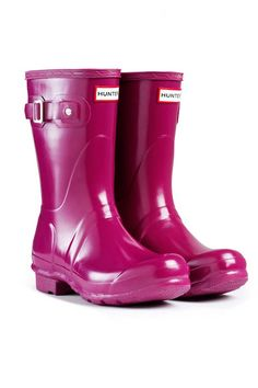 "Hunter Original Short Gloss Boots, $125;  target=""new"">hunter-boot.com   - ELLE.com"