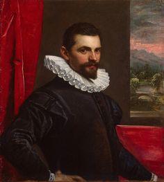 1586-1589 Domenico Tintoretto (Domenico Robusti) Portrait of a Man (Francesco Bassano)