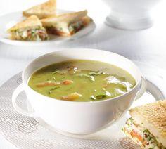 Courgettesoep met zalm-dille tosti - Recept - Jumbo Supermarkten