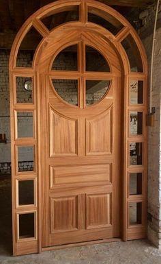 Wooden Front Door Design, Door Gate Design, Wood Front Doors, Door Design Interior, Wooden Doors, Porch Doors, Pine Doors, Tor Design, Exterior Doors With Glass