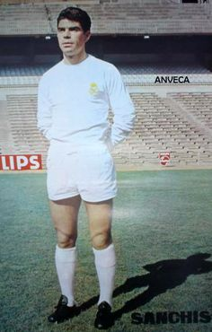 SANCHIS (R. Madrid - 1968-69) Real Madrid History, Spanish, Football, Club, Women, Devil, Trading Cards, Legends, Memories