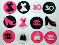 Fashion Cupcake Toppers  Birthday  by CookieFashionista on Etsy, $15.95