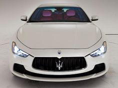 White Maserati Ghibli with purple interior. Maserati Ghibli, Maserati Car, Maserati Interior, Sexy Cars, Hot Cars, Rolls Royce, Maserati Granturismo, Best Luxury Cars, Fancy Cars