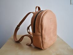Leather backpack Woman backpack Leather by SvernutHandMade on Etsy