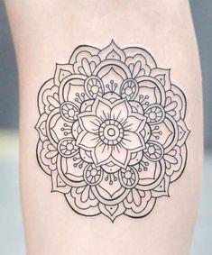 Pretty Tattoos, Love Tattoos, Beautiful Tattoos, New Tattoos, Body Art Tattoos, Small Tattoos, Simple Mandala Tattoo, Mandala Tattoo Design, Sunflower Tattoo Design