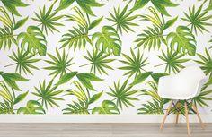 tropical-leaves-print-room