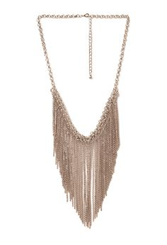 Chain Fringe Necklace | FOREVER21