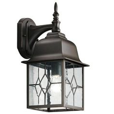 Portfolio Litshire 13-5/8-in Oil-Rubbed Bronze Outdoor Wall Light    Perfect for my front and back porch!