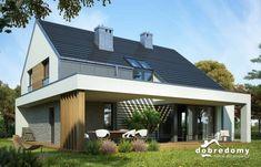 Vidia - Dobre Domy Flak & Abramowicz Roof Design, Facade Design, Exterior Design, House Design, Roof Cladding, Modern Exterior Doors, Modern Barn House, House Extensions, Facade House