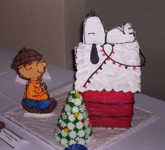 A Fun Birthday Gingerbread House: Charlie Brown & Snoopy.