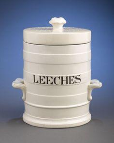 antique creamware Leech Jar c.1840