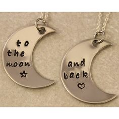 Love You To the Moon and Back - Couples Jewelry - Best Friend Gift -... (36 AUD) ❤ liked on Polyvore featuring jewelry, necklaces, accessories, couples, initial pendant, black pendant, necklaces & pendants, pendants & necklaces and letter necklace